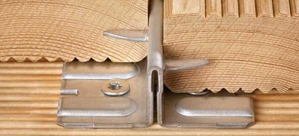 Крепеж для террасной и палубной доски