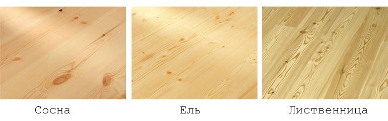 Лиственница отличается от сосны и ели по прочности, визуальным характеристикам. Структура древесины плотнее и тяжелее сосны. Между волокон мало места для воздуха, поэтому стены из лиственницы холоднее. Щепа лиственницы утонет в воде быстрее сосны. Если доску смочить водой, проявится четкая древесная структура с розоватым оттенком. С торца доски отличаются строением древесины. У лиственницы плотные годичные кольца узкой заболони. Сосна и ель со слабым ядром и увеличенной заболонью. Сосна и ель на спиле желтовато-белая. Под воздействием солнца становятся желто-бурого цвета, лиственница приобретает коричневый оттенок. С помощью колерованного антисептика эти различия устраняются. По ощущению, сосна и ель мягче на 30-40%. Если по бревну провести гвоздем (можно на спиле поперек волокон), на лиственнице след будет менее заметен. Лиственница неохотно разгорается и дольше горит. Из-за смолистости первой сгорит сосна, затем ель и только потом лиственница. Визуально отличить пиломатериалы из лиственницы от сосновых досок можно по темному оттенку. Сосна желтеет, лиственница приобретает коричневато-красный оттенок. Лиственница тяжелее, с менее выраженным запахом, в отличие от сосны.